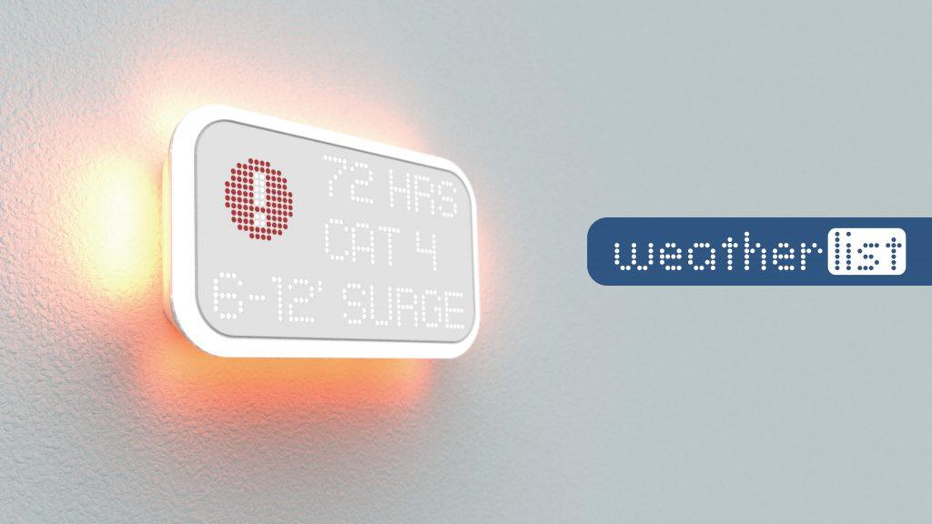 Weatherlist UPenn Product Design University Portfolio
